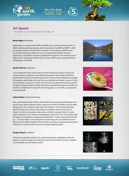 Earth Garden leaflet - Art Sqaure 2011